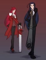 Rin + Grell Sketch by jkim910