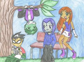Chibi titans by yukiinu by teentitans