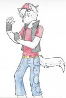 Anthro Wolf by RaiinbowRaven