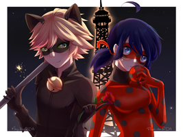 [Collab] Miraculous LadyNoir by M-ar