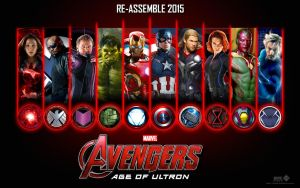 The Avengers Age Of Ultron Banner Wallpaper V.2 by lesajt