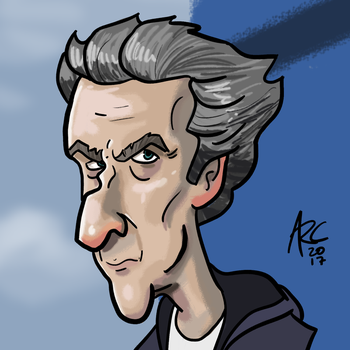 Twelfth Doctor Caricature by WesleyRiot