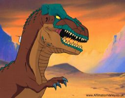 Cadalacs and Dinosaurs Production Cel by AnimationValley