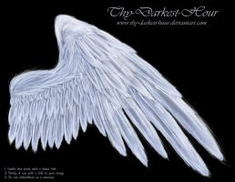 Soft Compact Wing - White by Thy-Darkest-Hour