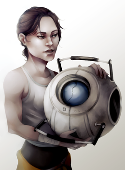 Chell/Wheatley by hi-host