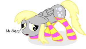 Derpy Tries Socks by Peach-the-mouse