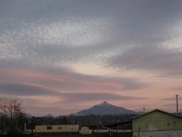 Pink-lined Clouds Over Pilchuck by aRetrodude
