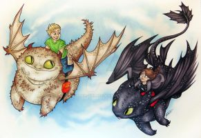 Dragon Riders by Super-Chi