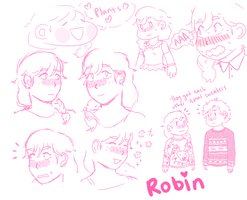 Robin Stress Ddoodles by moliupok