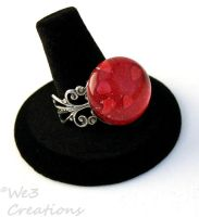 Red Heart Marble Ring by kelleejm1