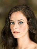 Ipad painting of Kaya Scodelario by chaseroflight