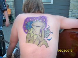 Kermit the Frog Sharpie Tattoo by bueatiful-failure