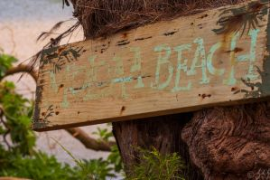 Moloaa Beach Sign by Merlinman50
