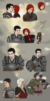 Dragon Age Sketches Page 1 by Guyver89