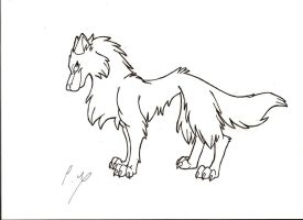 Wolf...very thin one by Wolfdog27
