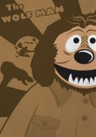 The Wolf Man - Muppet Monster Poster by Gr8Gonzo