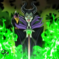 Maleficent by Cahnartist