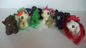 My little Pony Customs Halloween Babies by BerryMouse