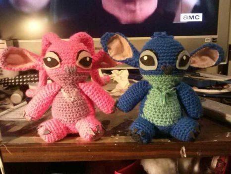 Stitch dolls (angel and stitch) by catqueen136