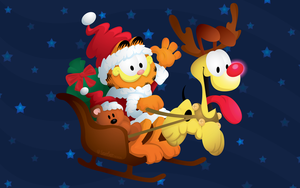 Garfield Christmas by lightfastdesign