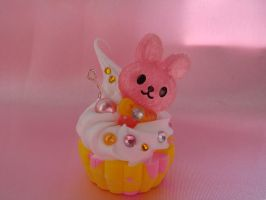 Sparkel Bunny Cupcake by Lustfulwish