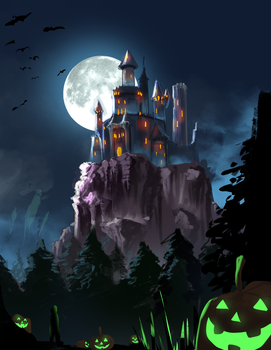 Castle in the Night by BlandStuffTastesNice