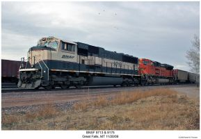 BNSF 9713 and 9175 by hunter1828