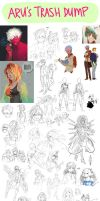 Sketchdump 1 by Arucelli