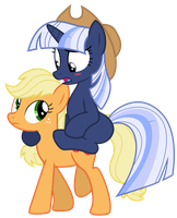Vector: Silverlay + Applejack 2 by EStories