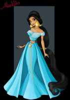princess jasmine  -  designer princess by nightwing1975