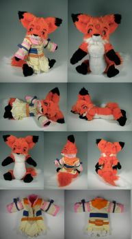 Stylized Anthro Fox Teddy by WhittyKitty