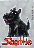 ACEO Dog 7: Scottie by ronnieraccoon