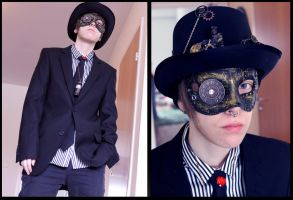 masquerade steampunk gentleman by Imoon90