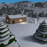A peaceful cottage in the winter by Voleuro