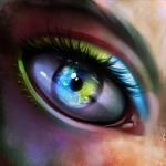 World in eye by ryky
