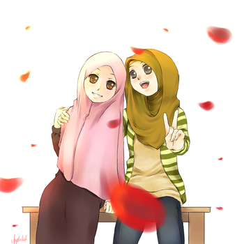 Hijabis by FaceTheWorldDude
