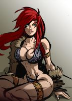 Red sonja lascivious by Gilmec