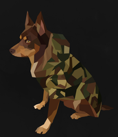 Kelpie Polygon Art by BlondieAu