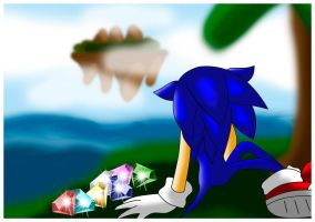 Sonic alone by princesayuuki
