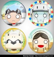 UFO Catcher button collection by GoshaDole