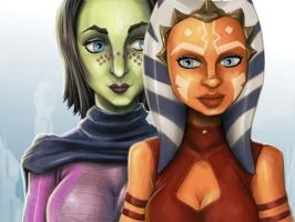 Barriss and Ahsoka by clc1997