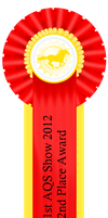 1st AQS Show 2012 2nd Place Ribbon by AgentQStables