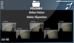 Guitar Folders - Guitar Silhouettes Set 02 by od3f1