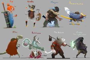 Fighting game Characters by DINO-SAWR