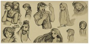 Tangled Sketch Batch by EternaLegend