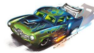Hot Wheels Jaded Art by candyrod