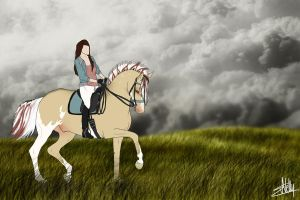 Cloudy ride by Nellaahh