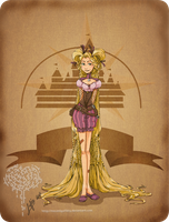 Disney steampunk:Rapunzel by MecaniqueFairy