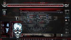 Windows 7 Themes: Terminator by TheBull1
