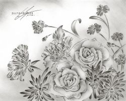 Flower Drawing 9 by Sultzaberger